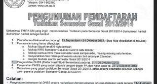 Pengumuman Yudisium Gasal 2013-2014