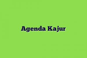 Agenda Kajur