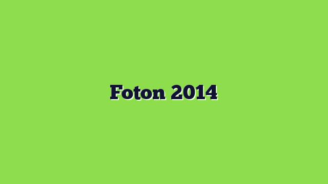 Foton 2014