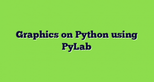 Graphics on Python using PyLab