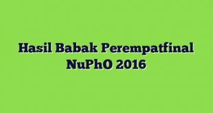 Hasil Babak Perempatfinal NuPhO 2016