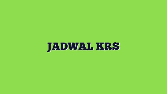 JADWAL KRS