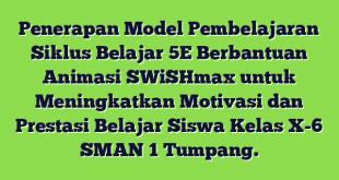 Penerapan Model Pembelajaran Siklus Belajar 5E Berbantuan Animasi SWiSHmax untuk Meningkatkan Motivasi dan Prestasi Belajar Siswa Kelas X-6 SMAN 1 Tumpang.
