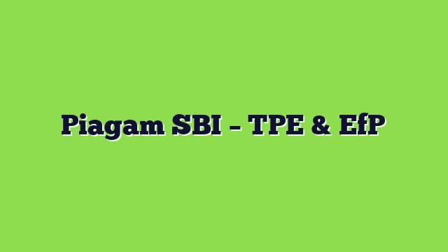 Piagam SBI – TPE & EfP