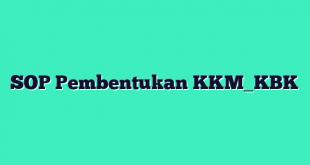 SOP Pembentukan KKM_KBK