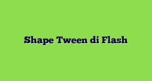 Shape Tween di Flash