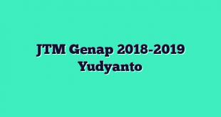 JTM Genap 2018-2019 Yudyanto