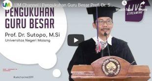 Pengukuhan Guru Besar Sutopo