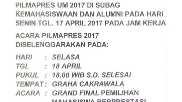 PILMAPRES 2017