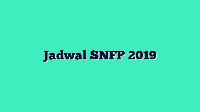 Jadwal SNFP 2019