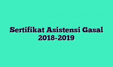 Sertifikat Asistensi Gasal 2018-2019