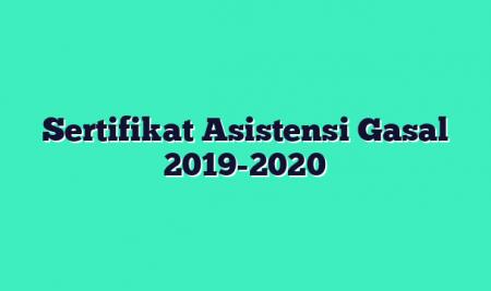 Sertifikat Asistensi Gasal 2019-2020